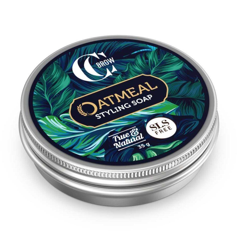 Мыло овсяное для укладки бровей со щеточкой Oatmeal Styling Soap, True&Natural, CC Brow, 35g