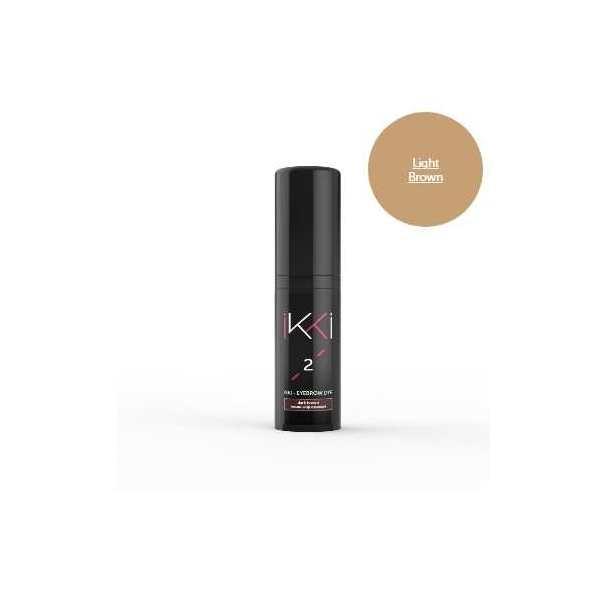 Гель-краска для бровей IKKI 5 мл во флаконе, тон светло-коричневый (light brown)