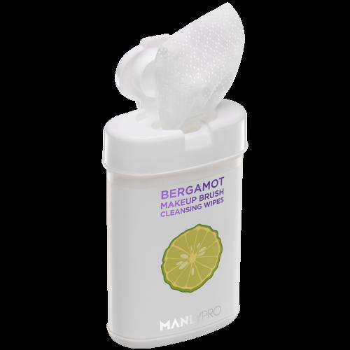 Экспресс-очищающие салфетки для кистей с маслом бергамота 50 шт. Manly PRO