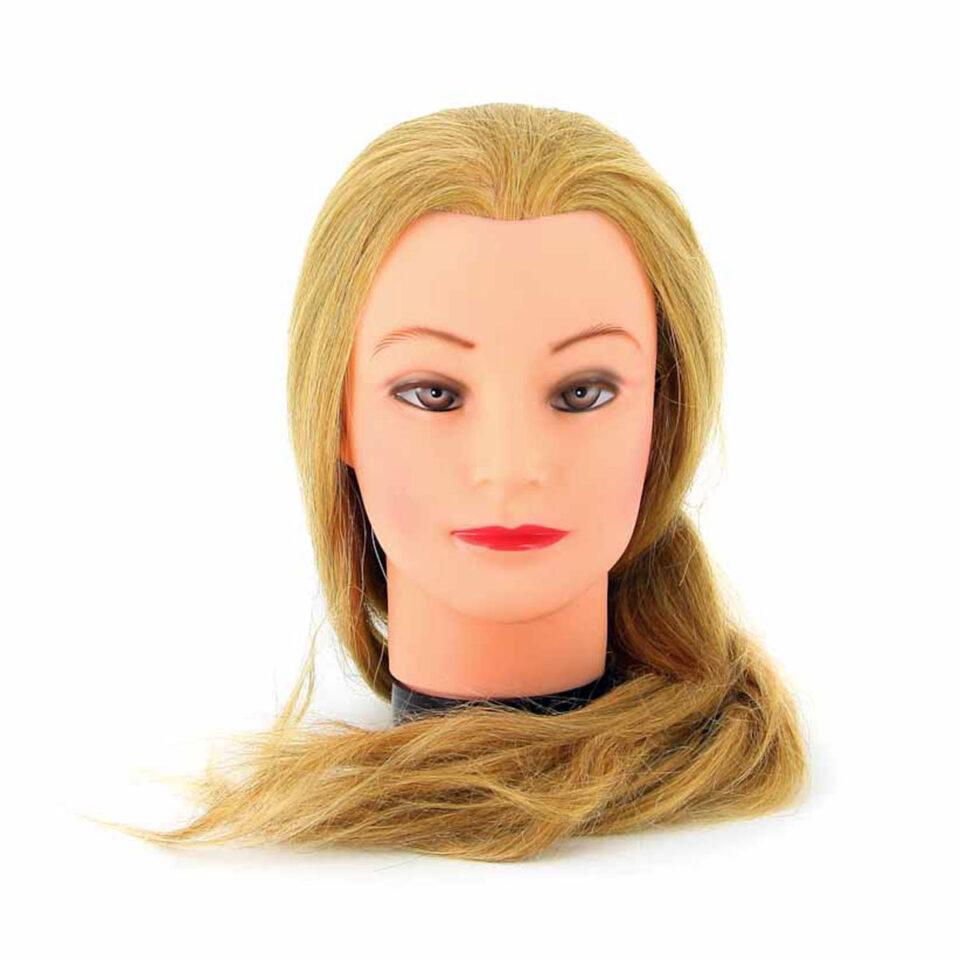 """Голова учебная DEWAL """"блондинка"""", натурал.волосы 45-50 см 1"""