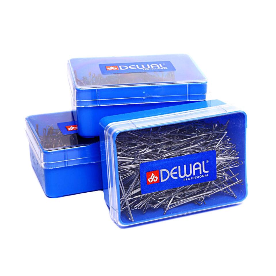 Невидимки DEWAL серебристые, волна 40мм, 200гр, в коробке