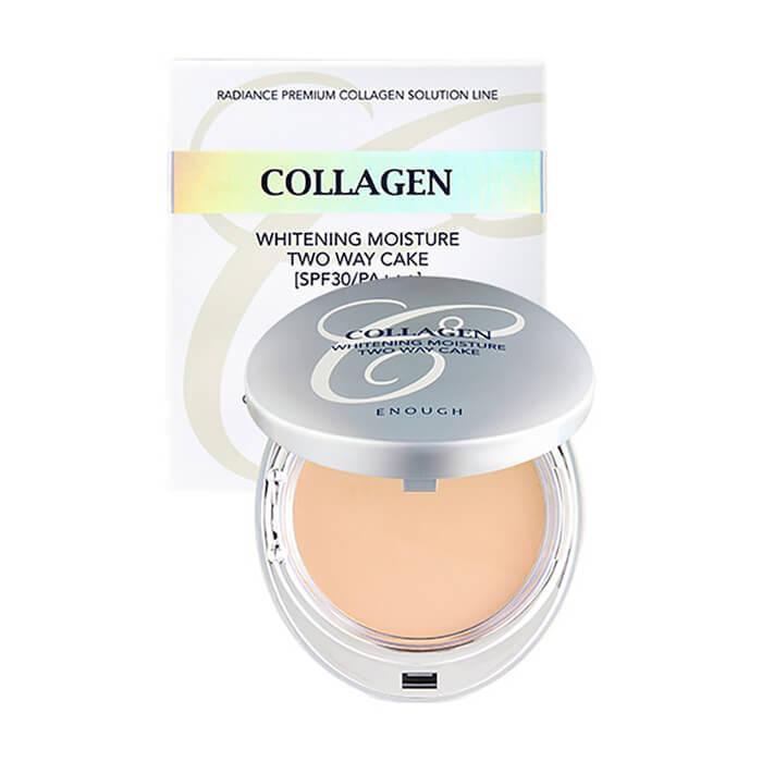Пудра увлажняющая с коллагеном со сменным блоком Enough Collagen Hydro Moisture 3 в 1 SPF25 PA++ 21