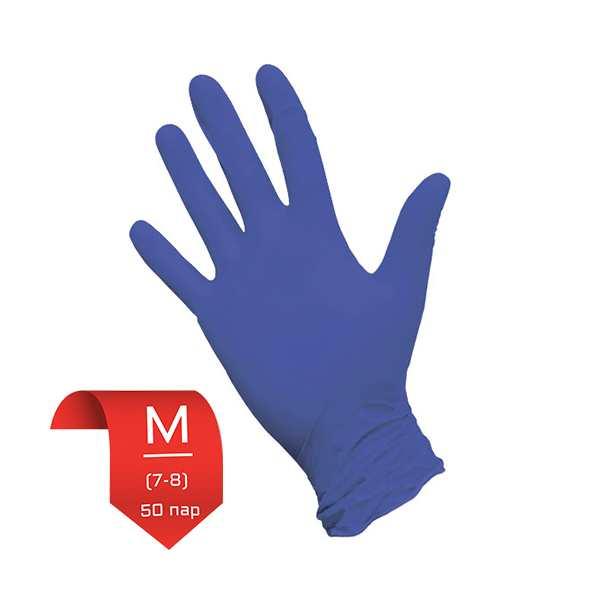 """Перчатки НИТРИЛОВЫЕ, ФИОЛЕТОВЫЕ текстурированые, 7-8 """"M"""" неопудренные (50 пар) NitriMax"""