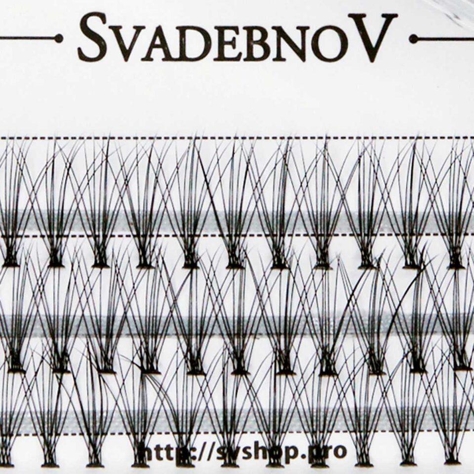 Ресницы пучками 14 мм SvadebnoV