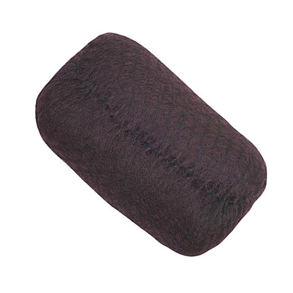 Валик для прически DEWAL, искусственный .волос + сетка, темно-коричневый 18х11см
