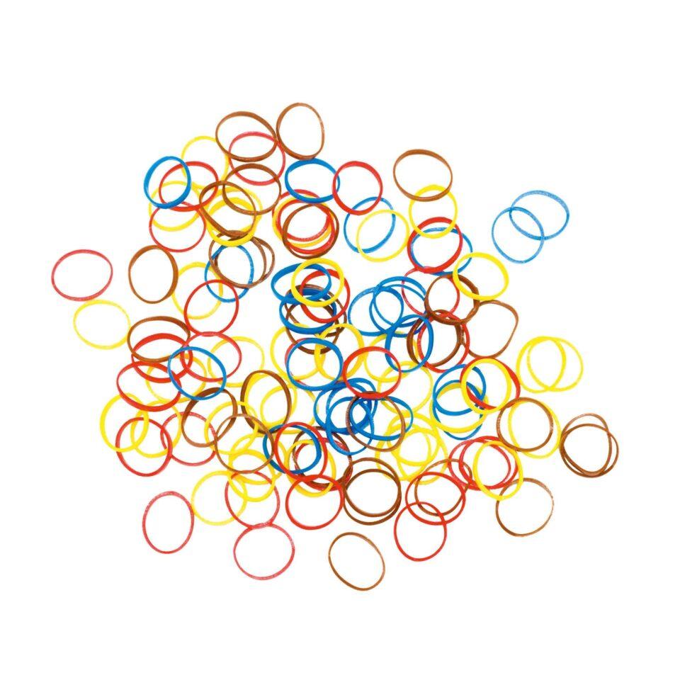Резинки для волос DEWAL,силиконовые, цветные, mix mini 100шт/уп