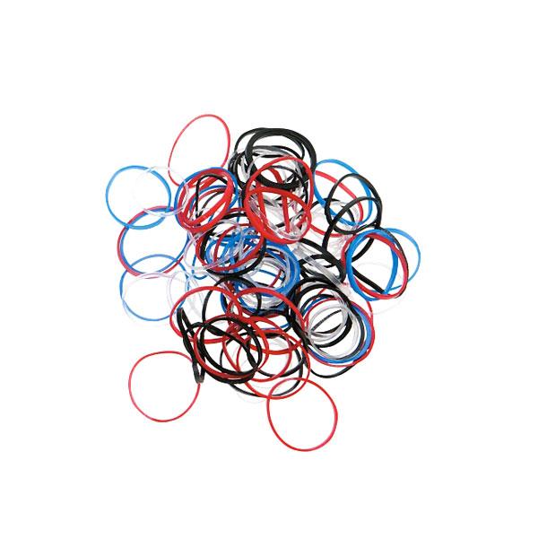 Резинки для волос DEWAL, силиконовые, цветные, mini 100 шт/уп