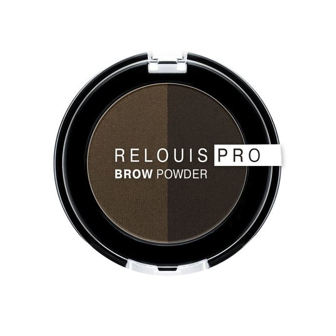 Relouis Тени для бровей PRO Brow Powder т. 03 Dark Brown